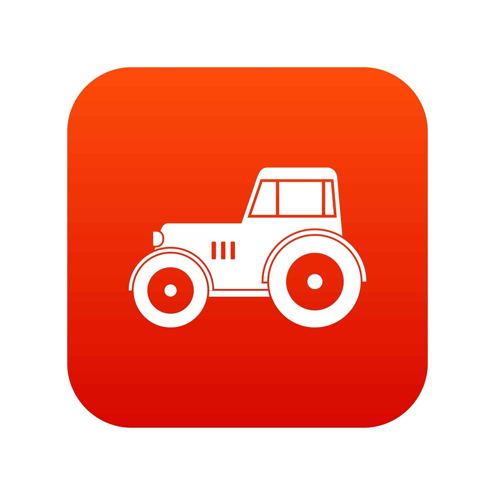 Tractor icon digital red for any design isolated on white vector illustration